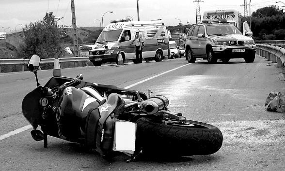 indemnización por accidente en moto